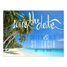 Tropical Beach Wedding Save the Date Magnet