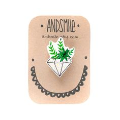 Succulent Brooch by andsmile on Etsy, #OhMyBrooch
