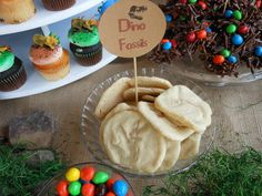 Fossil cookies at a Dinosaur party!  See more party ideas at CatchMyParty.com!