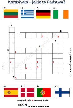 Krzyżówka - jakie to Państwo? do wydruku | Pokoloruj Świat