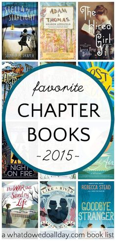 Favorite middle grade novels of 2015 by a parent who reads a ton of books every year.