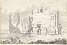 Gerardus Johannes Verburgh | Ruïne van de Abdij van Rijnsburg, Gerardus Johannes Verburgh, 1812 |