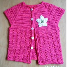 Toddler Short Sleeve Cardigan- My first pattern published on All Free Crochet