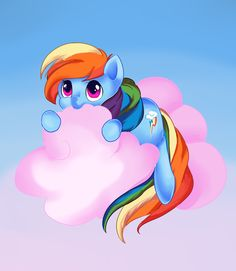 Rainbow Dash Devoured This Cloud in Ten Seconds Flat