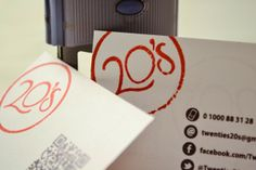20's New Business Cards by Moataz Omar, via Behance