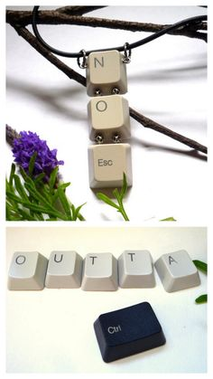 BUY or DIY Computer Keyboard Keys Jewelry.DIY: Keyboard Keys…