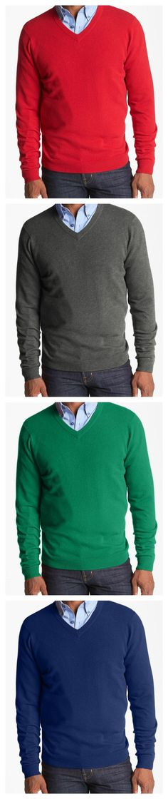 We love cashmere sweaters for our gents. What's your favorite color?