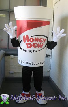 Honey Dew Donuts - Coffee cup mascot
