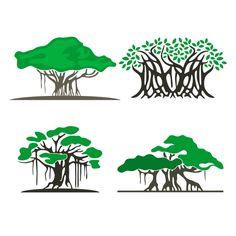 Banyan tree illustration products 26 New ideas Tree Clipart, Tree Svg, Vector Clipart, Tree Illustration, Botanical Illustration, Illustrations, Abstract Tree Painting, Tree Paintings, Pine Tree Tattoo
