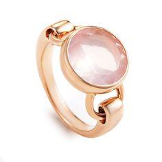 Gold Pink Quartz Ring PPD3350, Women's