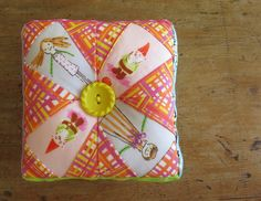 Prettified Pincushion, from Ayumi Takahashi's Patchwork Please!  made by catandvee