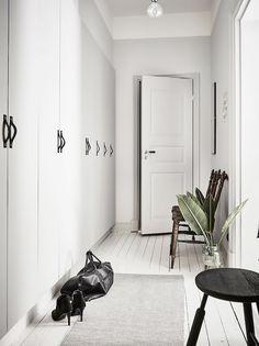 Modern soft grey hallway scandinavian inspired