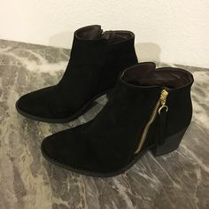 Qupid black suede booties Like new condition, black suede Qupid Shoes Ankle Boots & Booties