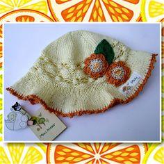 Receita de chapeuzinho de verão para bebê em tricô hoje lá no blog: http://miauartes.blogspot.com.br/ #artesanato