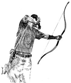 "Horsebow _Jens,  one of the illustrations in ""Schetsboek"""