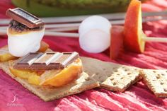 peach-topped s'mores peach-topped- smores-recipe-cherylstyle-H