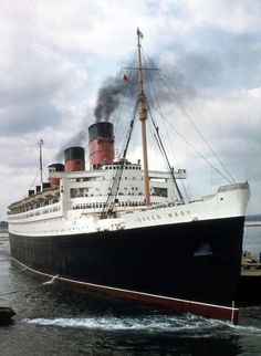 The Cunard liner RMS Queen Mary.