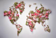 Christian Dior map flower