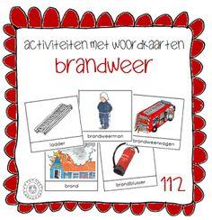 Activiteiten met woordkaarten | Thema 112 BRANDWEER Preschool Lessons, Preschool Learning, Teaching, Fire Safety, Ambulance, Firefighter, Making Out, Education, Kindergarten