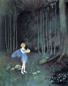 Illustration by Ida Rentoul Outhwaite - fairy Art And Illustration, Vampire Illustration, Arte Fashion, Kobold, Vintage Fairies, Beautiful Fairies, Flower Fairies, Fairy Art, Magical Creatures