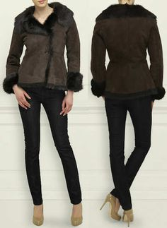 LK Bennett Darwin Sheepskin Shearling Jacket