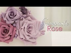 Gumpaste Rose Tutorial - YouTube