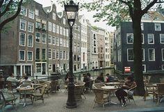 Street Amsterdam Cafe by Nastasiya Kolomoets