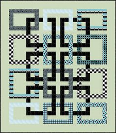 I hope you are well. I have another free pattern to share. My Movement in Squares, designed for Benartex's Op Art Reflections fabric collection, is quite different from my u… Modern Quilting Designs, Modern Quilt Patterns, Quilt Block Patterns, Quilt Blocks, Quilt Designs, Doodle Patterns, Sewing Patterns, Crochet Patterns, Strip Quilts