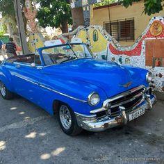 historic car -Fusterlandia, Havana, Cuba - A Visit to Fusterlandia in Havana, Cuba