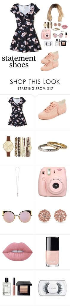 """""""03-24-17"""" by mery-santiago on Polyvore featuring moda, Hollister Co., Dolce Vita, Jessica Carlyle, Ann Demeulemeester, Fujifilm, Fendi, Carolee, Lime Crime y Chanel"""