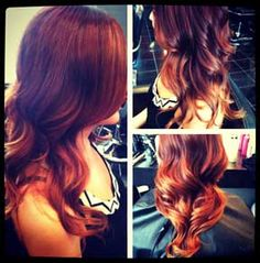 Red Ombre love!