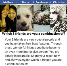 Melissa keeps ending up with my cats and dogs. Haaa. Haaaa. I love it!