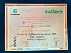 BASALTIK 2015  among the TOP ORGANIC WHITE WINES Festambiene Challenge 2016   http://www.lacappuccina.it/en/awards-basaltik/