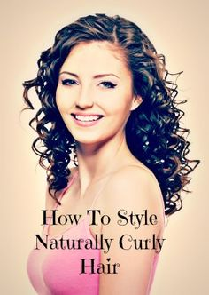 Good tips on how to style naturally curly hair!