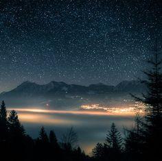 Stary night - The Swiss Alps.