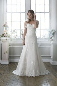 Lillian West Style 6384 Chantilly Lace And Beaded Enbroidered Slim A Line Complemented With Sweetheart Neckline