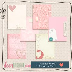 dear brighton : { project life valentines journaling cards } (D) (P) Project Life Scrapbook, Project Life Cards, Pocket Scrapbooking, Scrapbook Paper, Mini Albums, Printable Cards, Free Printables, Levitation Photography, Exposure Photography