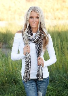 Gray Missoni Fringed Scarf- love this!!