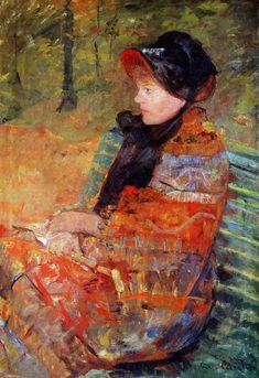 urgetocreate:Mary Cassatt, Portrait of Mlle. C. Lydia Cassatt, 1880