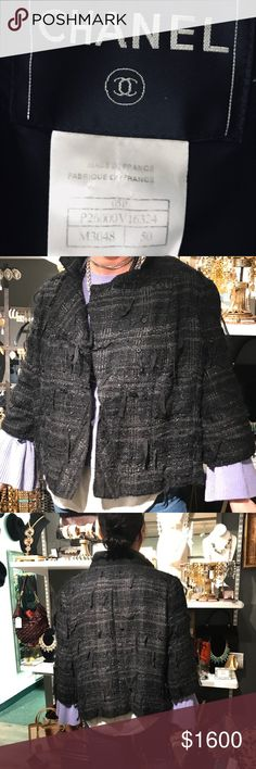 Size 16 Black Tweed Chanel Skirt Suit This is my favorite of the Chanel suits I have. A good tailor can adjust the size down by one-two. Price negotiable. CHANEL Jackets & Coats Blazers