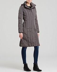 CALVIN KLEIN Hooded Down Coat. #calvinklein #cloth #coat