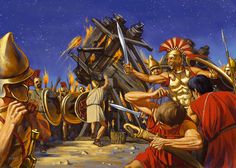 While most people are drawn to pitched battles, most wars in the ancient world involved often lengthy sieges of fortified cities and towns. Greek History, Ancient History, Greco Persian Wars, Greek Soldier, Medieval World, Historical Art, Ancient Greece, Military History, Warfare