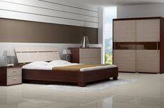 Contemporary Bedroom Furniture Set Feature Wonderful Low Profile ...