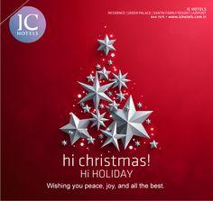 Merry Christmas & wishing you peace, joy and all the best!  Mutlu Noeller.. Barış ve mutluluk dolu bir yıl dileriz!  #mutlunoeller #mutluyıllar #allthebest #bestwishes  www.ichotels.com.tr