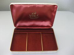 Vintage Jewelery Box with a Ship Printed on by EYESFORTREASURES, $9.00