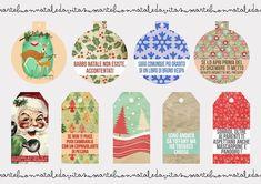 Christmas Time: stampa gratis i biglietti di auguri di Vita su Marte - Natale 2013   Vita su Marte Christmas Gift Tags, Advent Calendar, Free Printables, Holiday Decor, Creative, Blog, House, Ideas, Mars