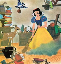 Snow White and the Seven Dwarfs -  illustrations by the Walt Disney Studio, adapted by Campbell Grant (1952)