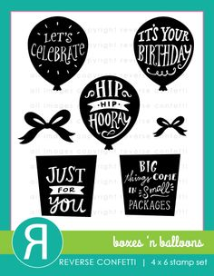 Let's celebrate!  Have a birthday or other celebration to create for?  The BOXES 'N BALLOONS stamp set has you covered.  Each of the images can be used on its own or paired with other images in the set for fun and festive endless possibilities!