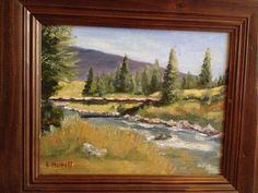 Spanish peaks fish camp oil on canvas