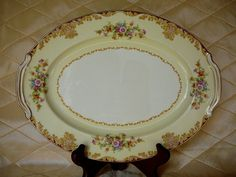 1940's Noritake Floral Designed Platter by JulianosCorner on Etsy, - SOLD